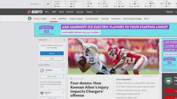 ESPN's Fantasy Football services crash on opening day
