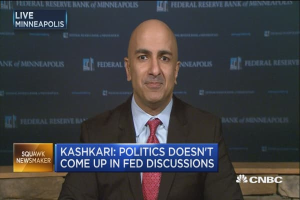 Watching inflation closely: Fed's Kashkari.