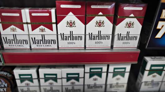Philip Morris International Inc. Marlboro brand cigarettes.