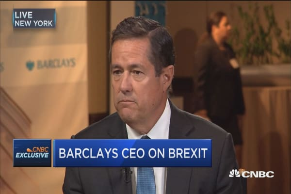 Barclays CEO: Brexit is a reality, and we'll embrace it