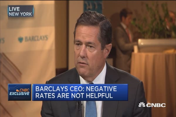 Barclays CEO: Negative rates are not helpful