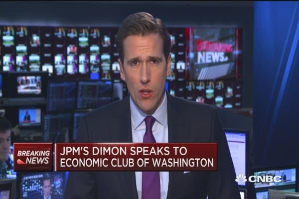 JPM'S Dimon: Let's just raise rates