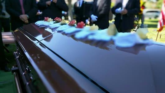 Funeral, casket, death
