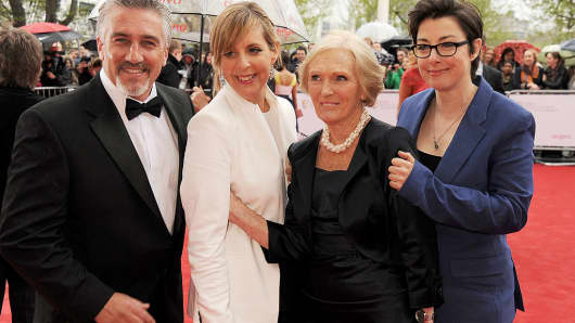 Paul Hollywood, Mel Giedroyc, Mary Berry and Sue Perkins of 'The Great British Bake Off'