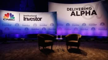The stage at Delivering Alpha 2016 in New York on Sept. 13, 2016.