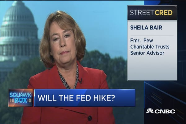 Time to hike rates now: Sheila Bair