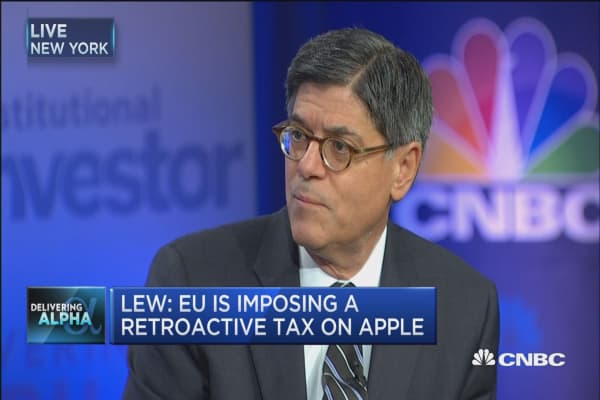 Europe's action out of normal tax framework: Jack Lew