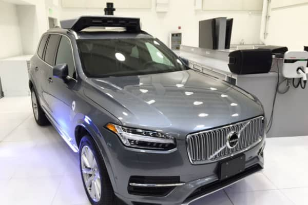 Uber's self-driving Volvo XC90