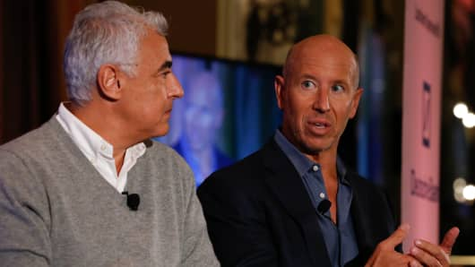 Marc Lasry and Barry Sternlicht at Delivering Alpha in New York on Sept. 13, 2016.