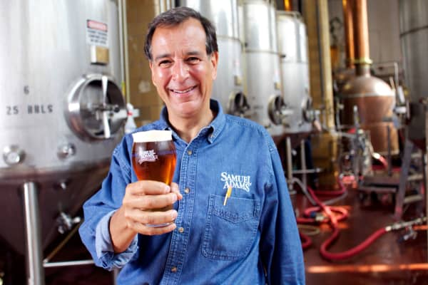 Jim Koch, founder of Boston Beer, at the Samuel Adams Brewery in Boston
