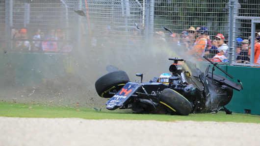 Formula 1 accident