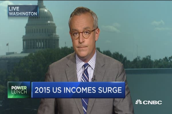 Household incomes surge