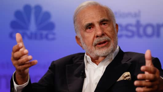 Icahn calls U.S. stock nosedive 'rumblings of an earthquake'