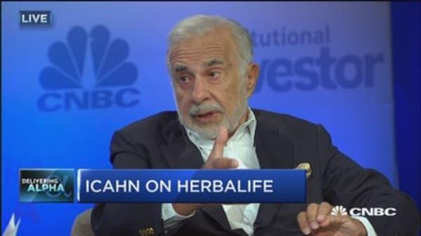 Icahn: I believe Herbalife makes good products