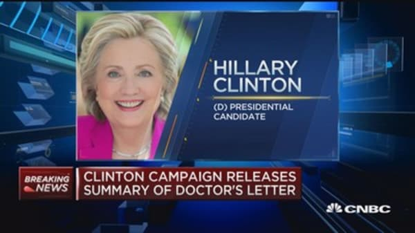 Clinton campaign releases summary of doctor's letter
