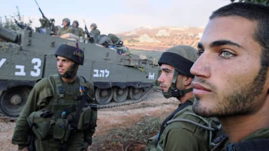 Israeli soldiers of the Israeli Defense Forces