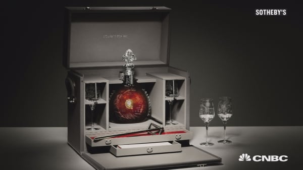 Fancy a drink? Bottle of cognac sells for $134,750