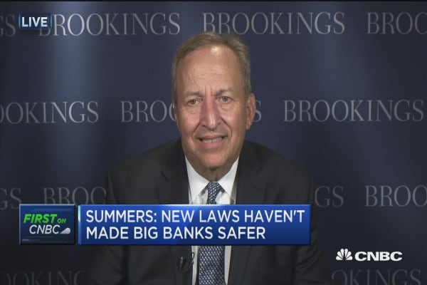 Summers: New laws haven't made big banks safer