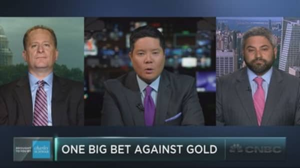 The million-dollar bet against gold
