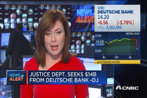 DOJ seeks $14B from Deutsche Bank: DJ