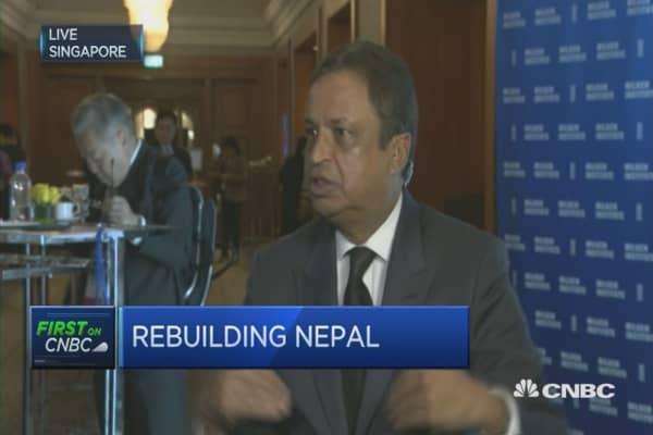 Efforts to rebuild Nepal