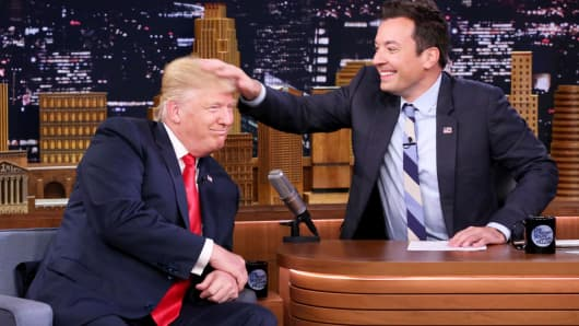 Donald Trump during an interview with host Jimmy Fallon on September 15, 2016.