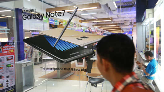 Samsung Electronic Company in Thailand announced a recall of its Samsung Galaxy Note 7 to its Samsung mobile customers through fan pages. Thailand promoted the product 'Samsung Galaxy Note 7' from 2-4 September 2016.