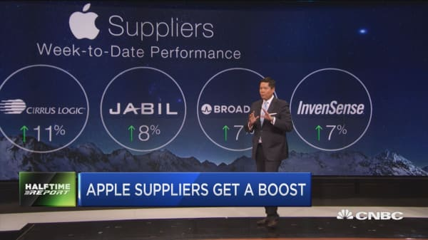 Apple suppliers gets a boost