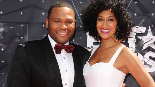 Actor Anthony Anderson and actress Tracee Ellis Ross