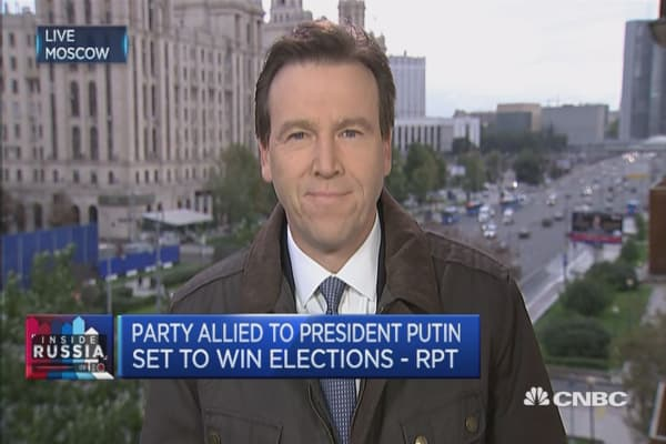 Putin's party ahead in Russian elections