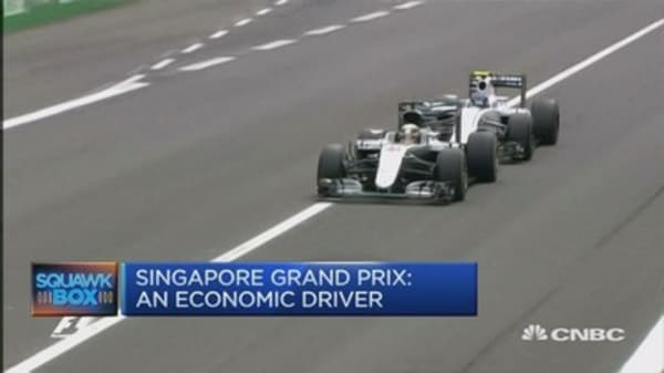 Singapore's F1 Grand Prix keeps the tourists coming