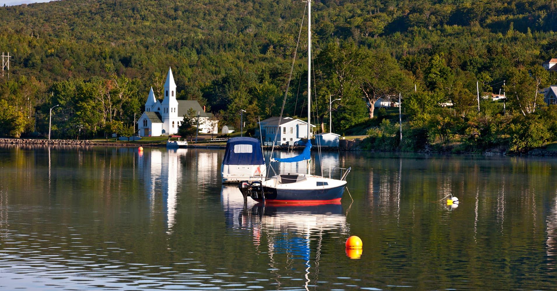Whycocomagh, Bras D'Or Lake, Cape Breton, Nova Scotia, Canada.