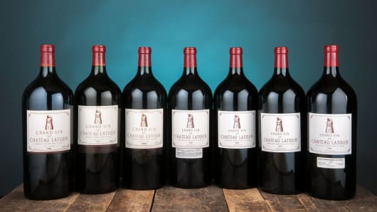 Some of Aubrey McClendon's wine collection that was auctioned by Hart Davis Hart Wine Co.