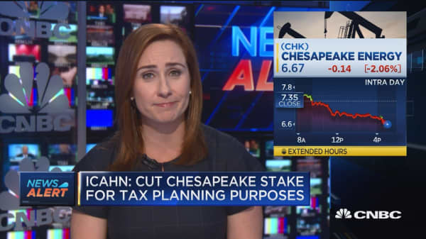 Icahn: Cut Chesapeake stake for tax planning purposes