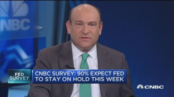 Fed survey: 90% expect fed to hold rates for now