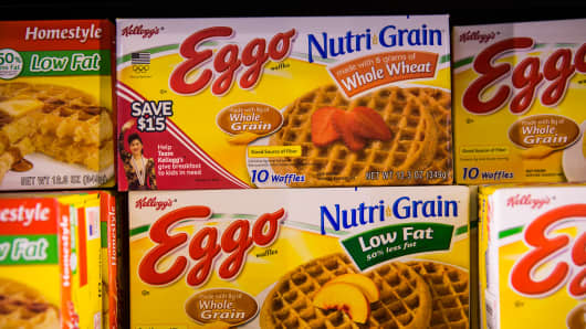 Kellogg Co. is recalling about 10,000 cases of its Eggo Nutri-Grain Whole Wheat Waffles in 25 states because they could be contaminated with the bacteria listeria.