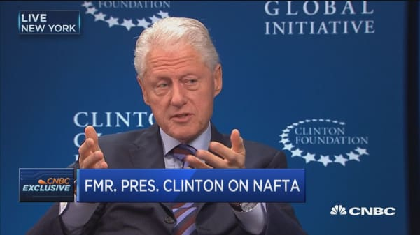 Bill Clinton: Nafta is not the problem with Mexico