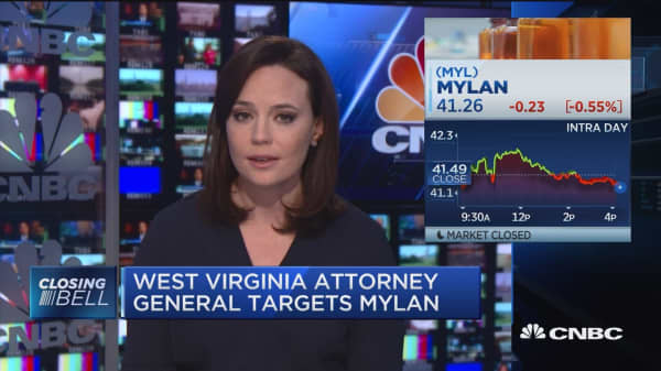 West Virginia Attorney General targets Mylan