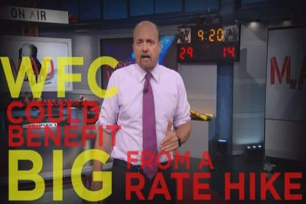 Cramer Remix: Wells Fargo could be a top beneficiary of a rate hike