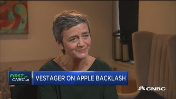 Vestager on Apple backlash