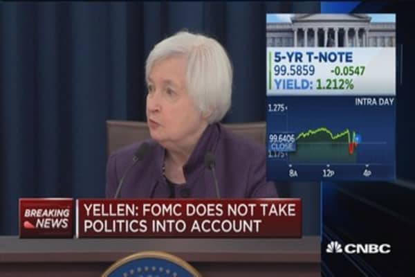Yellen: Partisan politics plays no role in our decisions