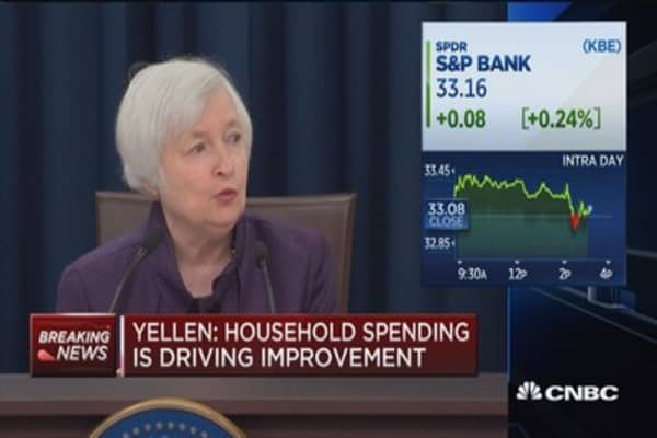 Yellen: Moderate threats to financial stability