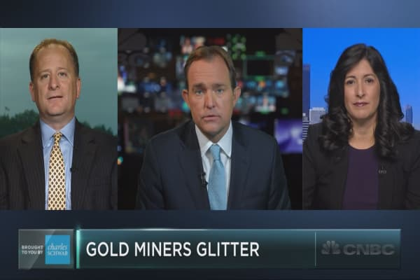 Gold miners surge after Fed