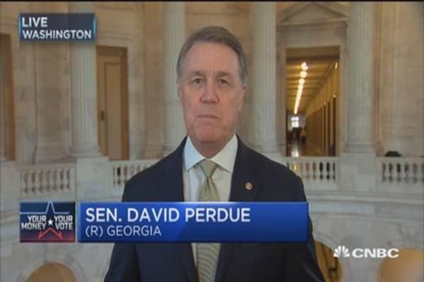 Sen. Perdue: Stark contrast between Trump and Clinton
