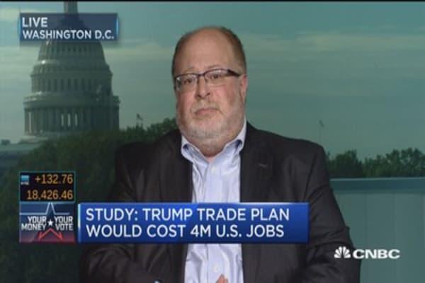 Study: Trump trade plan would cost 4M U.S. jobs