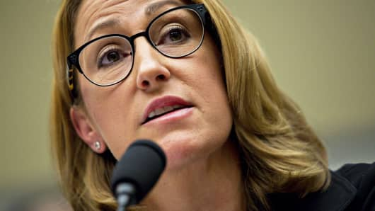 Heather Bresch, chief executive officer of Mylan NV, speaks during a House Oversight and Government Reform Committee hearing in Washington, Sept. 21, 2016.