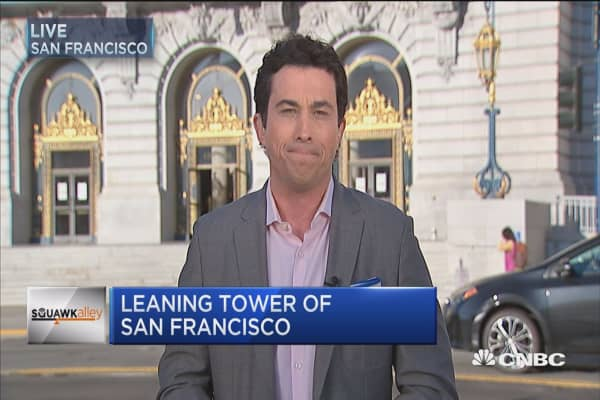 Leaning tower of San Francisco