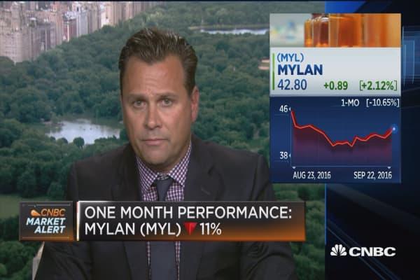 Mylan pops following CEO's Congressional testimony
