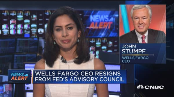 Wells Fargo CEO resigns from Fed's Advisory Council