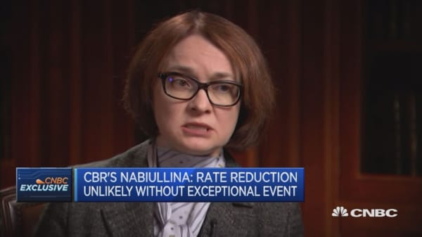 Structural limitations are preventing investment: Russian central bank governor